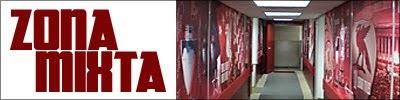 La zona Mixta del Liverpool 2-1 Southampton.